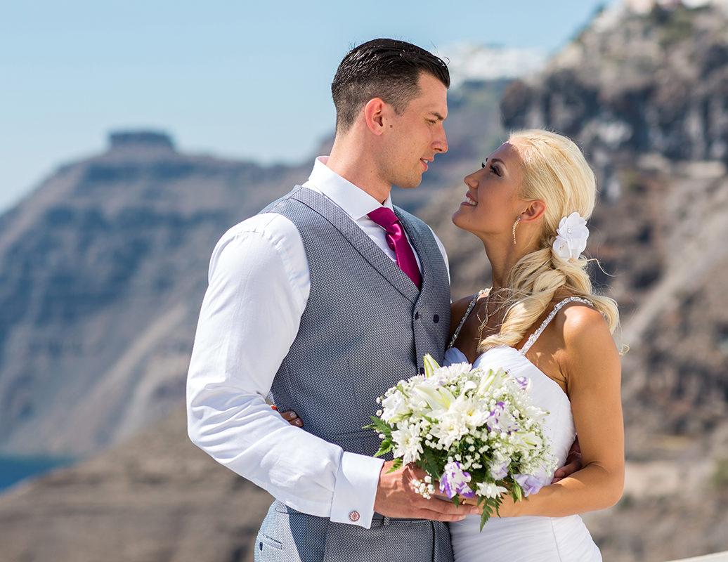 santorini marriage proposal video